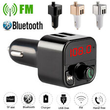 Wireless Bluetooth Car FM Transmitter Dual USB Charger MP3 Player Handsfree Kit