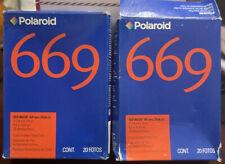 Polaroid 669 Exp 07/2007 2x Double Pack (40 photos)