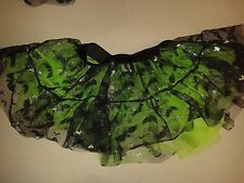 Bats for Halloween -Girls Black/Green Tutu Skirt Hen Night/Party 6 to 16