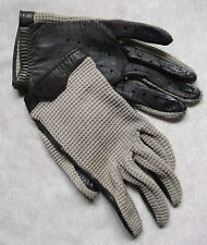 VINTAGE WOMENS REAL LEATHER DRIVING GLOVES 1960'S 1970'S MOD RETRO MEDIUM 7
