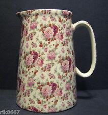 Heron Cross Pottery Strawberry Rose Chintz 4 Pint English Milk Jug very big vase