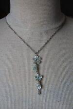 Collier noir  PILGRIM  - chaine argenté - Pendentif fleurs neuf