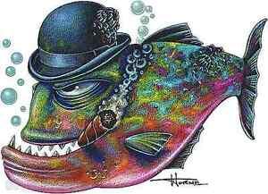 Big Shot Fish Sticker Decal Artist Doug Horne H19
