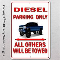 Diesel Parking only Aluminum sign with All Weather UV Protective Coating