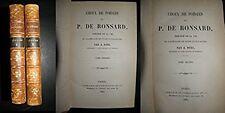 CHOIX DE POESIES RONSARD 2 VOL.1883-