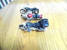 THREE  TOY DIECAST HARLEY DAVIDSON MOTORCYCLES BY MAISTO, EUC, NO BOXES