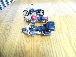 THREE  TOY DIECAST HARLEY DAVIDSON MOTORCYCLES BY MAISTO, EUC, NO BOXES