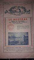 """Lot de revues """"Le Mistral"""" Officiers de reserve de Marseille 1948/49"""