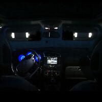 2 ampoules à LED Blanc miroir de courtoisie / pare soleil pour Peugeot  207 207+