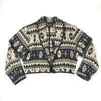VTG Scully Women's Aztec Pattern Cotton Jacket Pioneer WESTERN Size XL