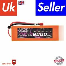 HRB 2S 7.4V 60C 6000mAh Orange Hardcase Lipo Battery with Deans Style Connector