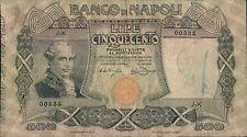 """500 lire 01/05/1919 """" Banco di Napoli """""""