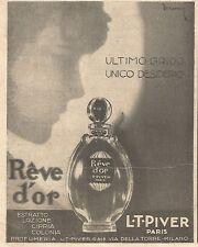 W4230 Profumo Reve d'or - L.T. PIVER - Pubblicità del 1930 - Vintage advertising