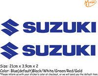 2 Pcs SUZUKI Reflective Stickers Motorcycle Decals Stickers Best Gift-