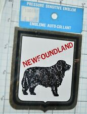 Newfoundland Dog Pressure Sensitive Emblems Int'L Insignia Vintage Sticker