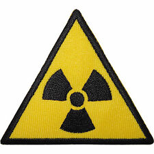 Radioactive Sign Embroidered Iron / Sew On Patch Radiation Symbol T Shirt Badge
