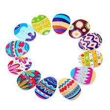 25 x Botones de Madera huevo de Pascua-Artesanía Adornos tarjetas toppers decorations