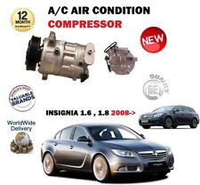 FOR OPEL VAUXHALL INSIGNIA 1.6 1.8 2008->NEW AC AIR CON CONDITIONING COMPRESSOR