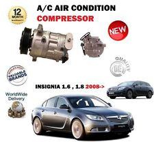 Per Vauxhall Opel Insignia 1.6 1.8 2008 - > Nuovo AC Compressore ad Aria Condizionata Condizionamento