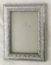"Silvertone Wood 7X8 3/4"" Frame Holds 5X7"" Photo"