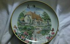 Rose Cottage Plate by Peter Barrett & The Franklin Mint  with Authenticity Cert