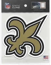 """2014 Static Cling window decal football New Orleans Saints 5"""" x 5"""""""