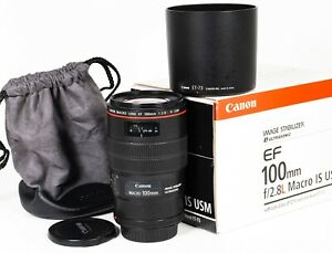 Canon EF 100mm F2.8 L Macro IS USM Lens
