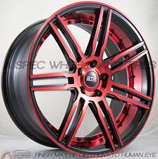 20X9/10.5  STR STR619 Wheels 5x114.3 +35 Red Rims Fits Mustang V6  V8 Gt Gs400