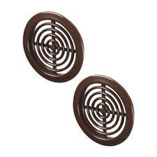 marron Mini Cercle Grille ventilateur 45mm Paire de meubles Couvercle t72br