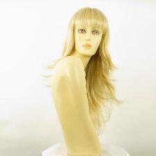 Perruque femme mi-longue blond doré méché blond très clair VIRGINIE 24BT613