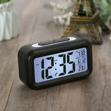 Digital Snooze LCD Alarm Clock Backlight Time Calendar Thermometer Temperature