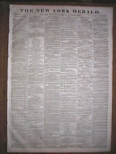 The New York Herald newspaper 1870, The Erie Strike. Martin Whiskey Crusade