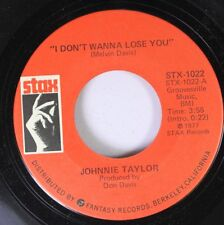 "Soul 45 Johnnie Taylor - ""I Don'T Wanna Lose You"" / ""Hijackin' Love"" On Stax"