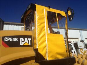 USA 4 Sided Cat CS56B CS64B CS74B Vinyl Tractor Cab and ROPS Cover & Snow Cab