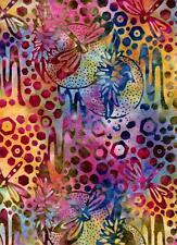 Dragonflies-Pink, Lavendar, Blue B/G-Batik Textiles-Batik Print-BTY