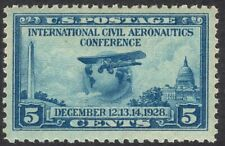 #650 XF MNH OG-5c Aeronautics Conference Issue BIG GEM STAMP (REM #650-3)