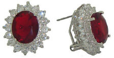 earrings princess kate diana red swarovski stone white gold Jewelry NWT