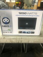 New DB Drive NEO4 Class D 4Channel Amplifier 1250W Marine Car Harley UTV