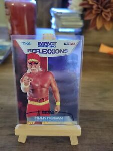 2012 TNA Impact Wrestling Reflexxions Hulk Hogan SP Blue Insert Card /40