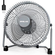 OPOLAR 9-Inch Desk Metal Fan 2 Speeds Portable Personal USB Cooling Quiet Fan