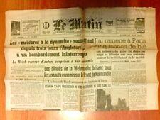 """JOURNAL DE PROPAGANDE DE LA COLLABORATION / """"LE MATIN"""" N° 21821 / 19 JUIN 1944"""