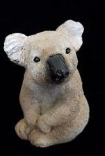 "Stone Critters Vintage 1988 Koala Bear Animal Figurine Figure 4in"""