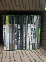 Lot Of 14 Mixed Xbox Games Fun Titles Bundle NFL, NCAA, Ghost Recon, Pinball