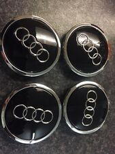 4x New Genuine Audi Wheel Centre Caps 4B0601170A Black