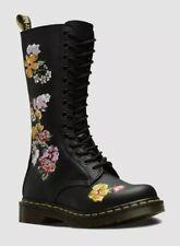 Dr Martens 1914 Vonda II Leather Calf-Length Embroidered Boots - BNIB - UK4