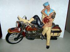 MOTORCYCLE - ART - SCULPTURE - 14 X 19