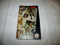 WHA 1974/1975 League Media Guide World Hockey Association WHA