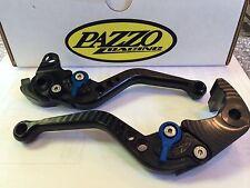Pazzo Shorty Levers Kawasaki Z1000 Ninja 1000 Tourer 2011- 2016 Black with Blue