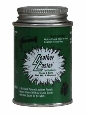 Leather Luster Hi Gloss Brilliant Patent Leather Finish w/Applicator 4oz - BLACK