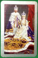 Playing Cards 1 Swap Card Old Vintage KING GEORGE V QUEEN MARY Royal CORONATION